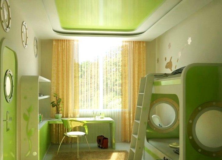 Детский стильный интерьер: дизайн потолка