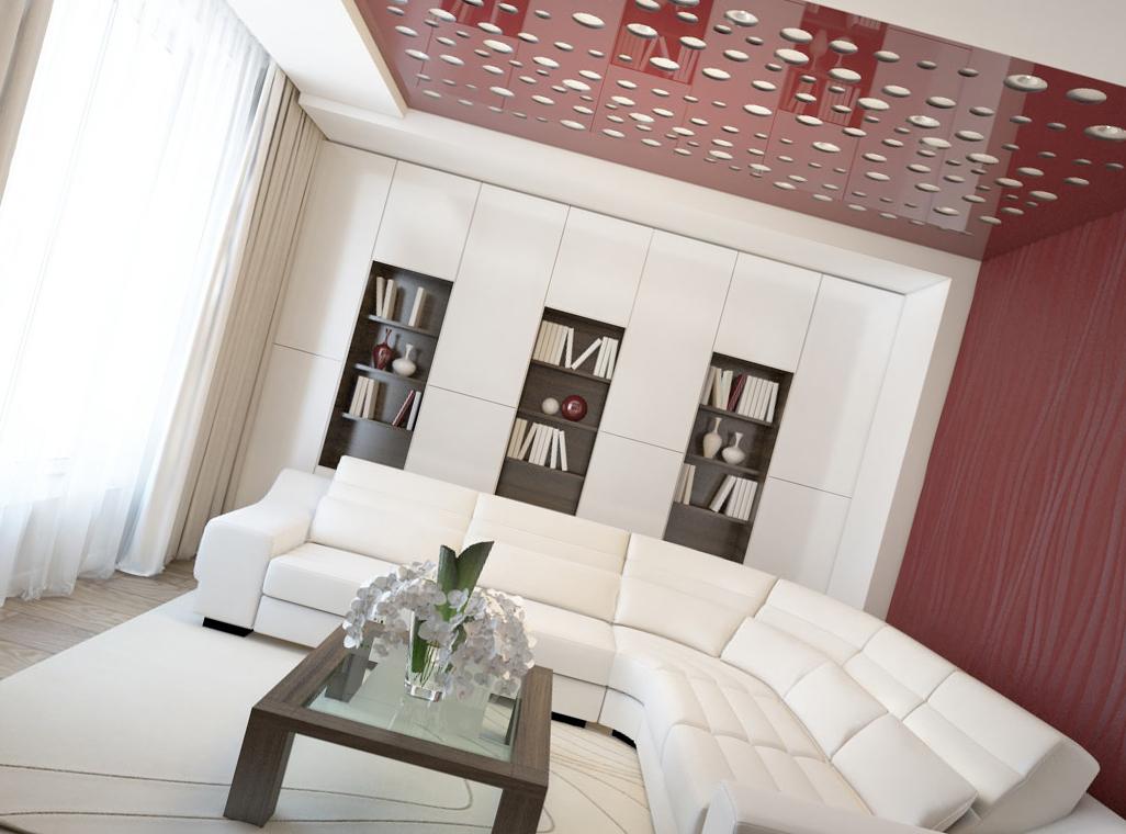 Картинки натяжных потолков для зала