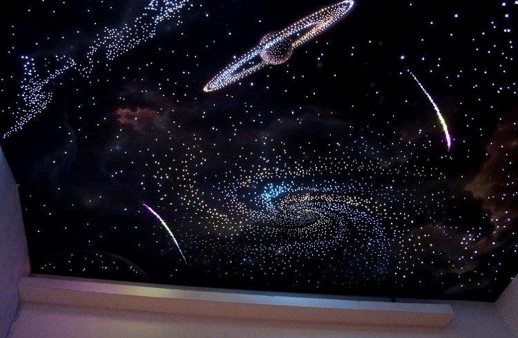 Натяжные потолки с фотопечатью космоса