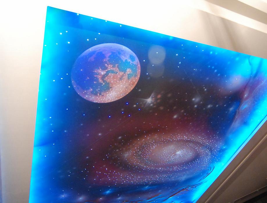 Звездный натяжной потолок